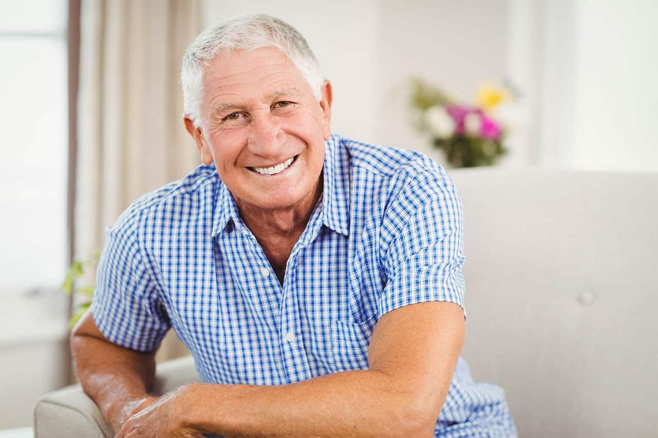 Senior with Dentures in Perth